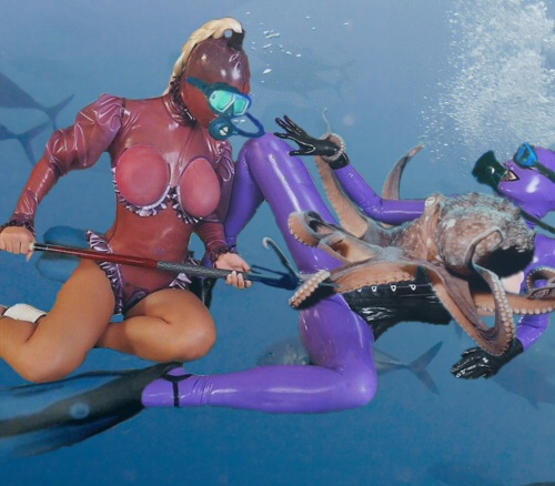 Tentacles attack hot: hot naked sports